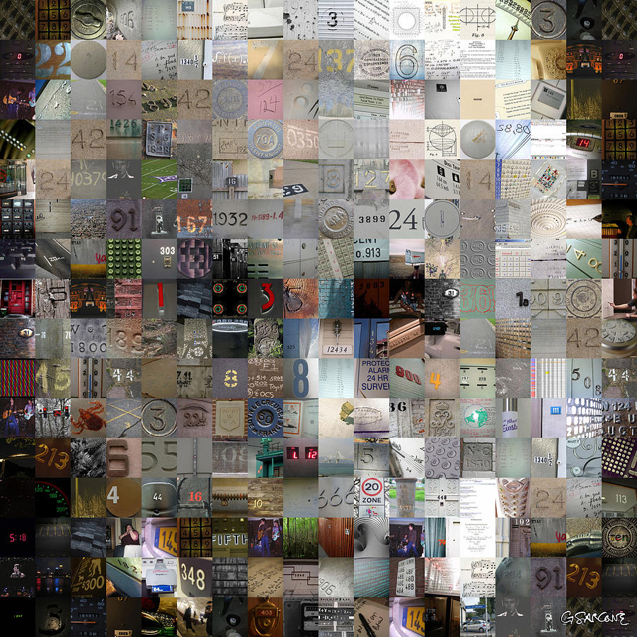 Einstein Mixed Media - Master of Numbers by Gianni Sarcone