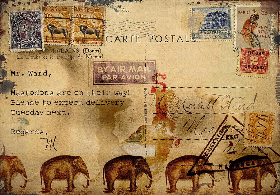 Mastodon Photograph - Mastodons Are On Their Way by Carol Leigh