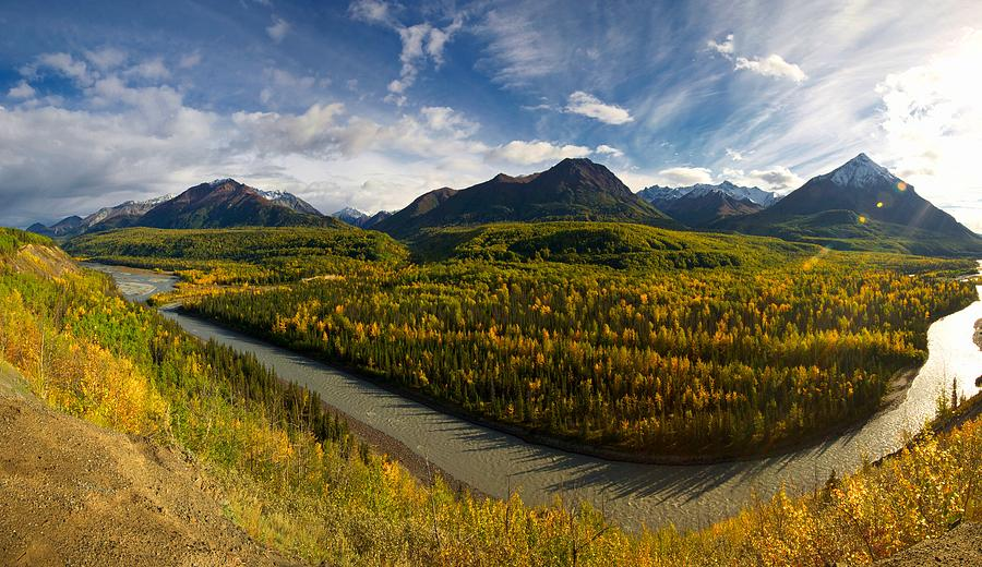 Alaska Mountains Photograph - Mat-su Bend 2 by Ed Boudreau