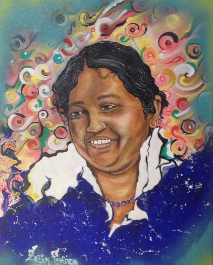Portrait Painting - Mata Amritanandamayi @ Erikfranco1.com by Erik Franco