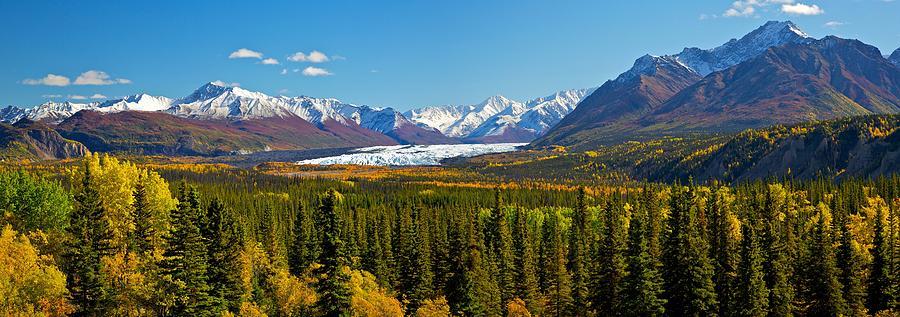 Alaska Mountains Photograph - Matenuska Fall by Ed Boudreau