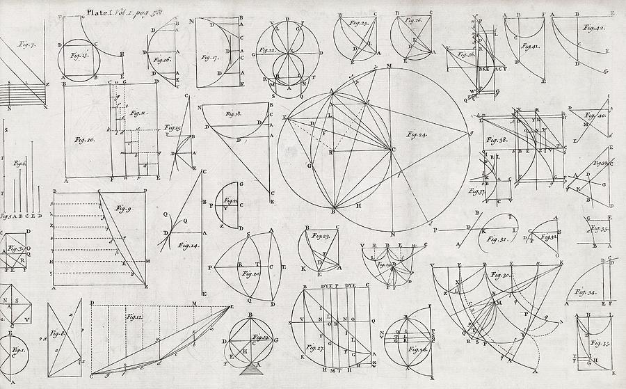 Curve Photograph - Mathematical Diagrams by Middle Temple Library