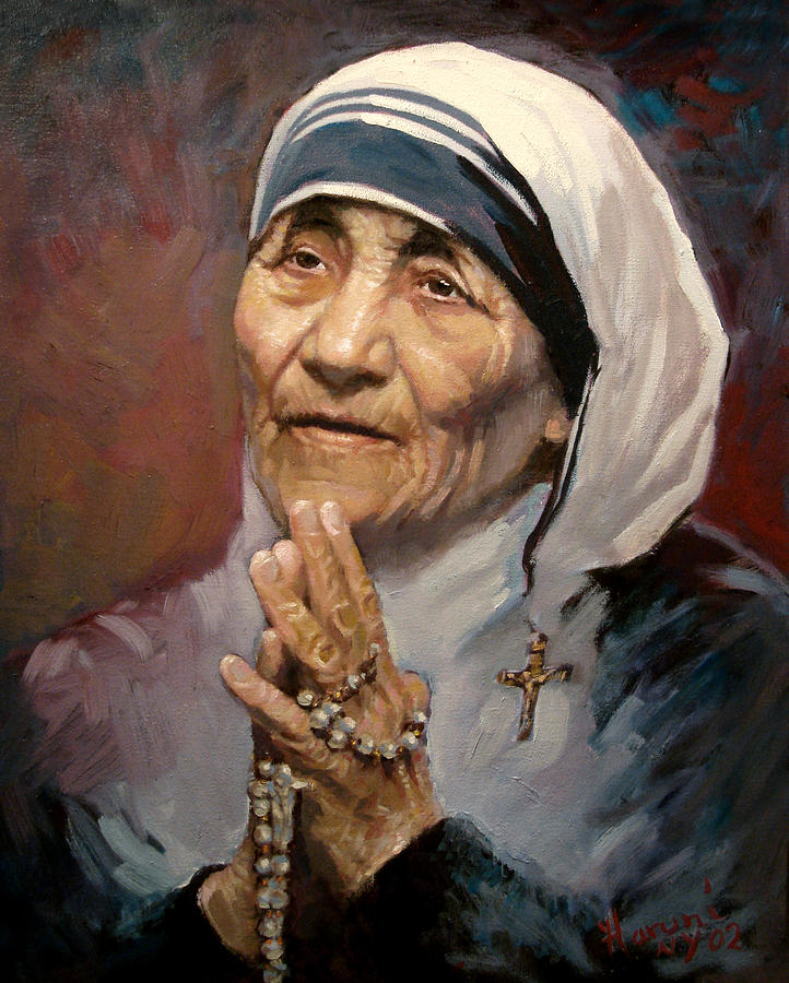 Mather Teresa Painting by Ylli Haruni