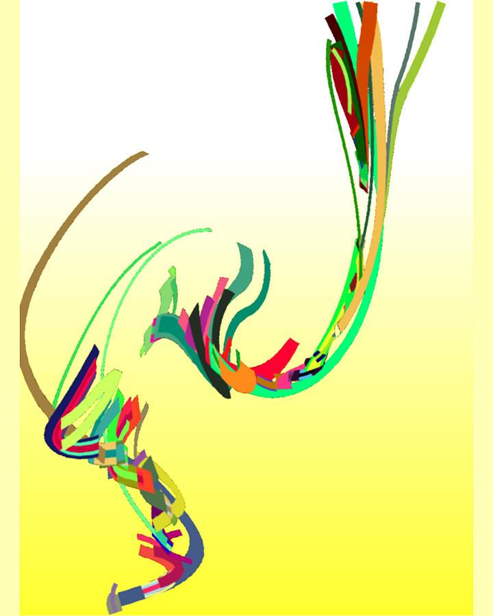 Mating Dance Digital Art - Mating Dance by Stephen Coenen