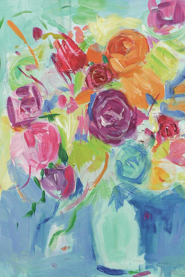 Matisse Florals Pastel Crop Painting By Farida Zaman