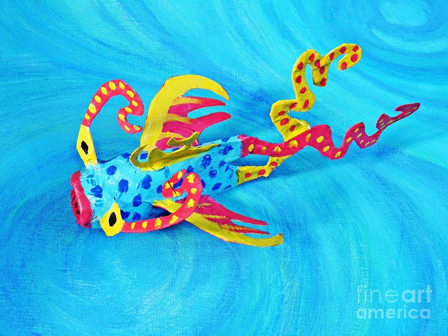 Blue Photograph - Matisse The Fish by Sarah Loft