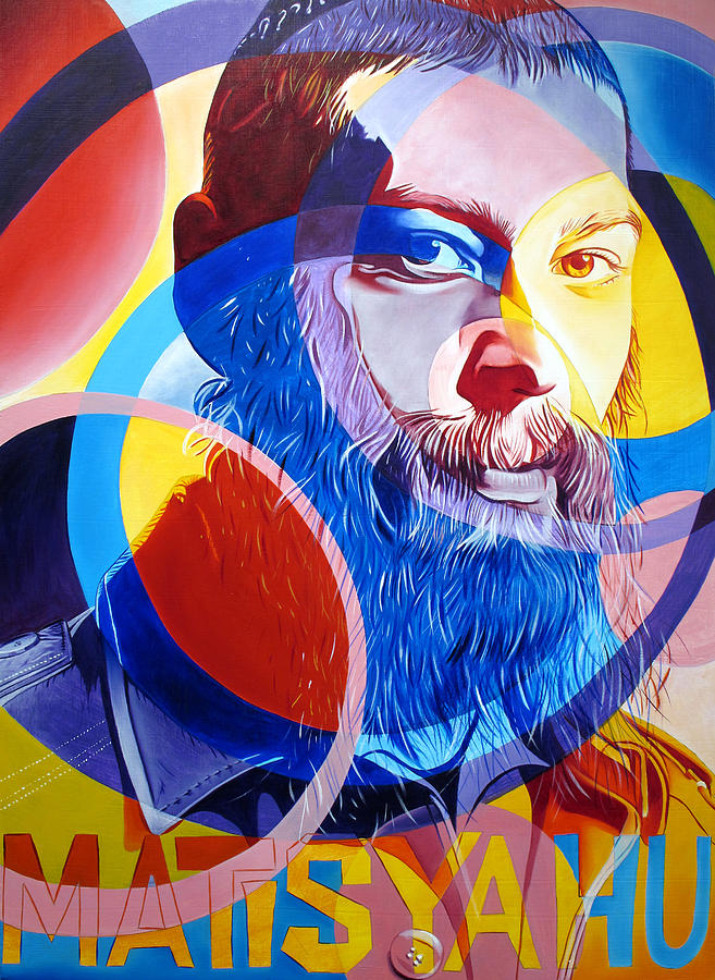 Matisyahu Painting - Matisyahu In Circles by Joshua Morton