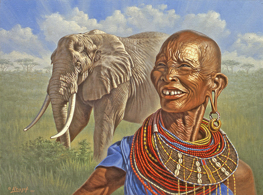 Elephant Painting - Matriarchs   by Paul Krapf