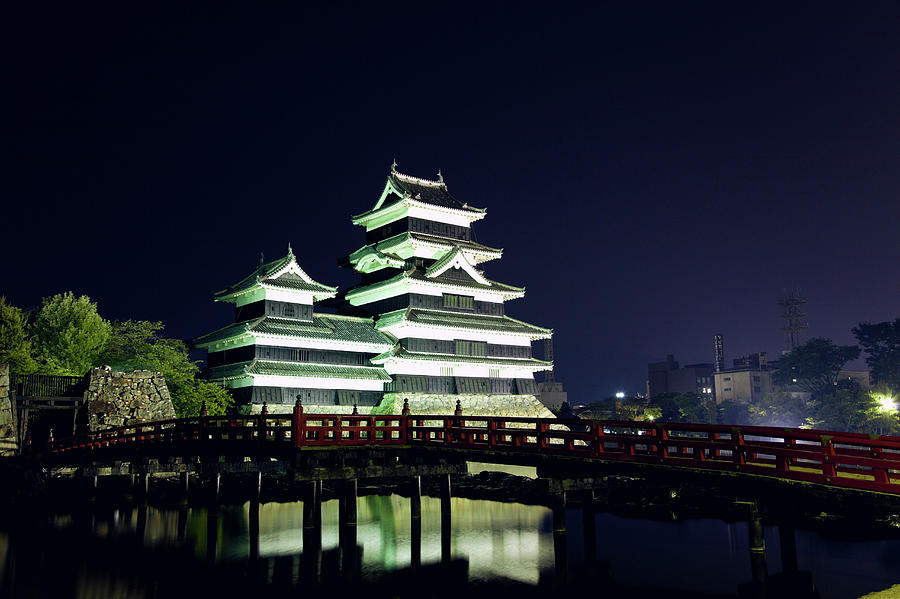 Matsumoto Castle At Night By Ultra F