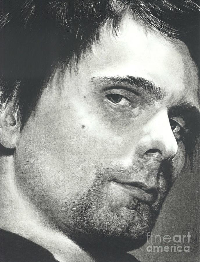Matt Bellamy Drawing - Matt Bellamy - Im Watching You by N Faulkner