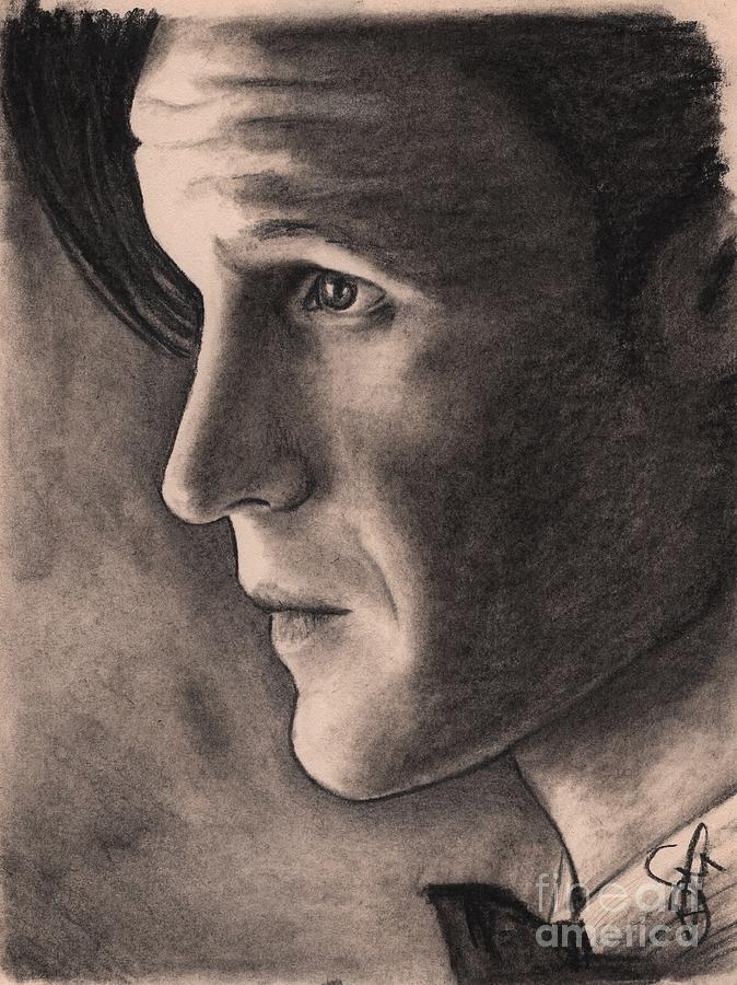 Matt Smith Drawing - Matt Smith by Rosalinda Markle