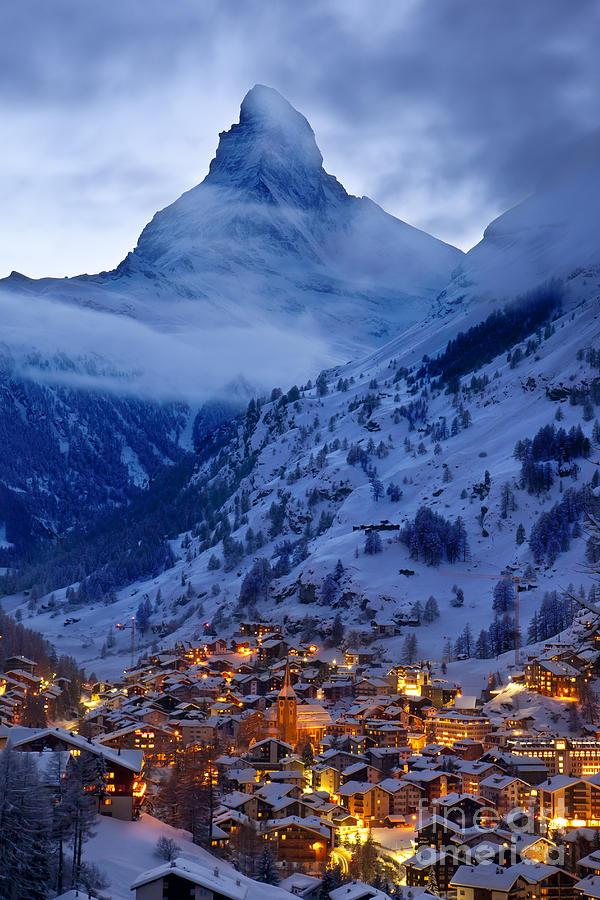 Dusk Photograph - Matterhorn At Twilight by Brian Jannsen