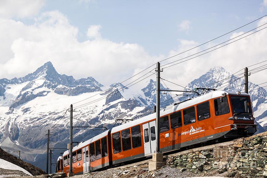 Switzerland Photograph - Matterhorn Railway Zermatt Switzerland by Matteo Colombo