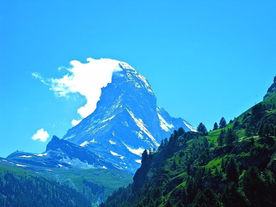 Matterhorn With Cloud Cap Photograph by Scott Carda