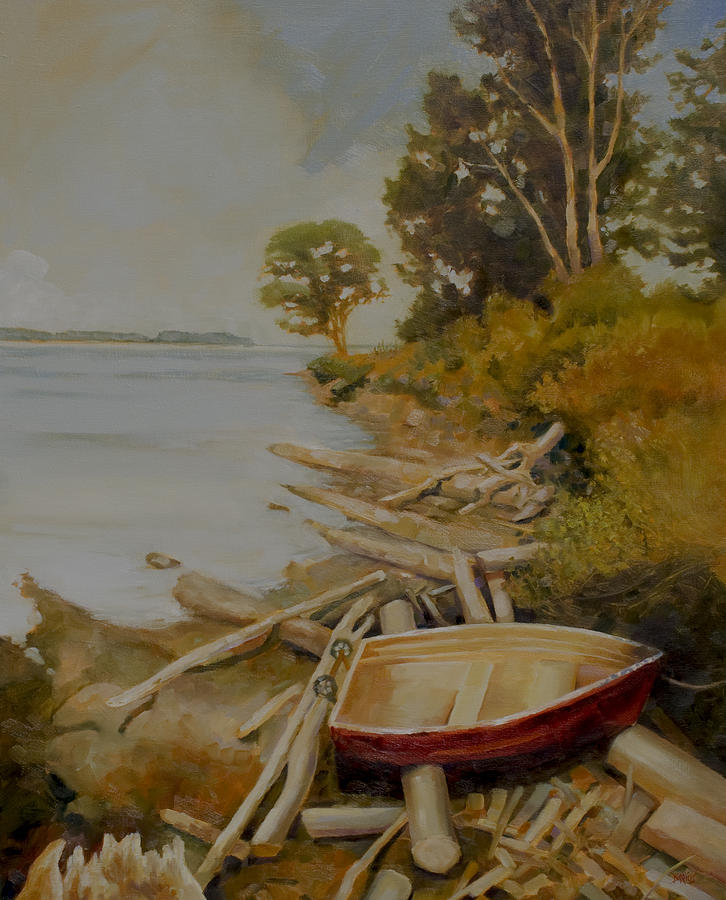 Boat Painting - Maude Bay by Sue  Darius