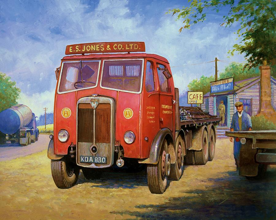 Painting For Sale Painting - Maudslay Meritor by Mike  Jeffries