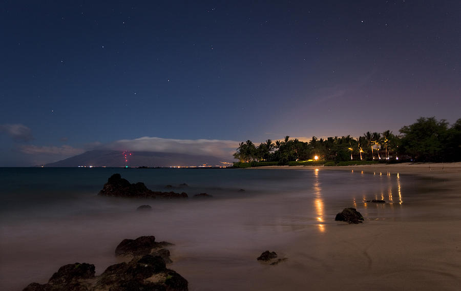 Maui By Night Photograph by James Roemmling