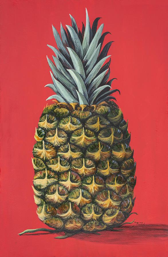 Kitchen Decor Painting - Maui Pineapple 2 by Darice Machel McGuire