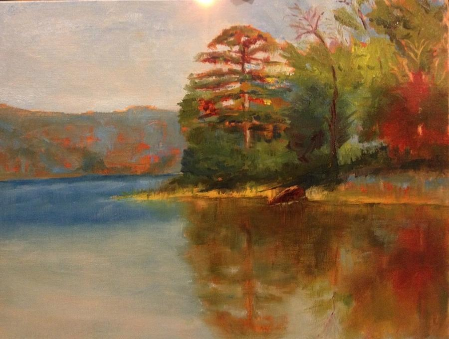 Lake Painting - Maumelle Pine by Jenell Richards