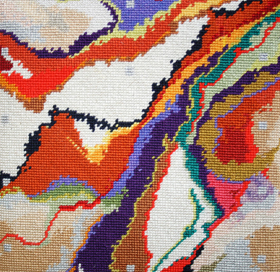 Needlepoint Tapestry - Textile - Mauna Loa by Connie Pickering Stover