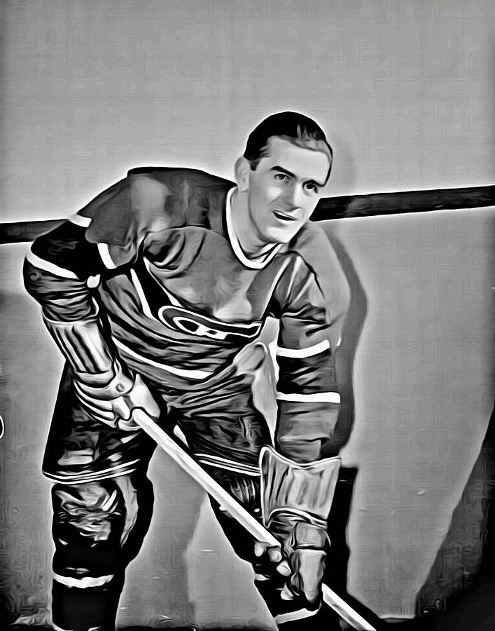 Maurice Richard Painting - Maurice Richard by Florian Rodarte