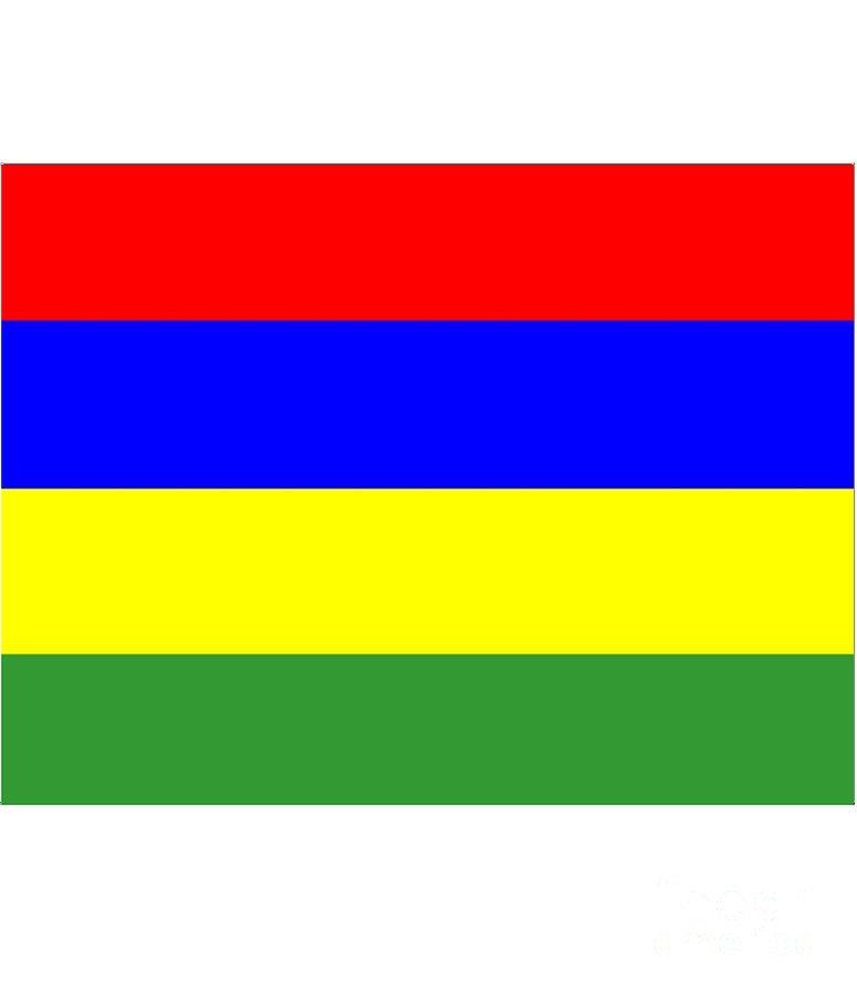 Mauritius Digital Art - Mauritius Flag by Frederick Holiday