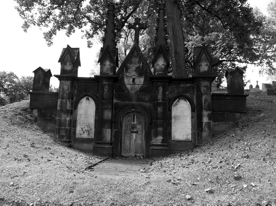 Graveyard Photograph - Mausoleum by Adam L