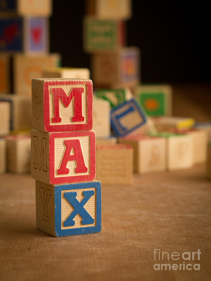 Max - Alphabet Blocks Photograph