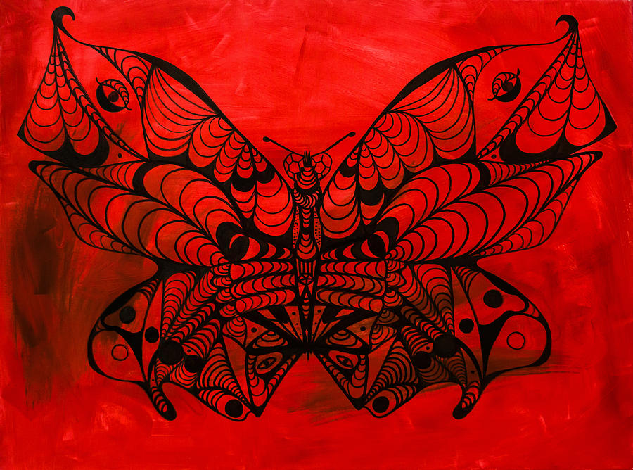 Abstract Butterfly Painting - Max The Butterfly by Kenal Louis