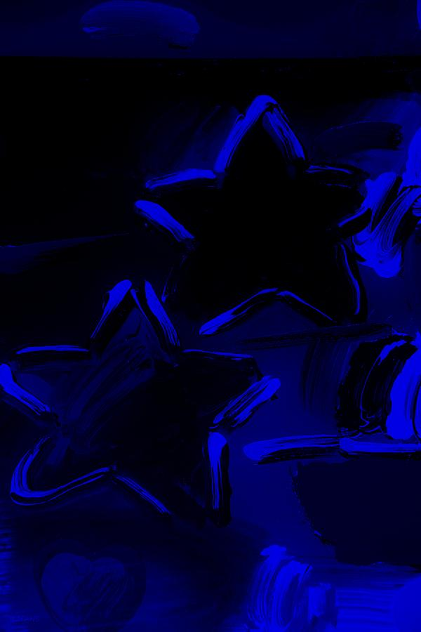 Modern Photograph - Max Two Stars In Blue by Rob Hans