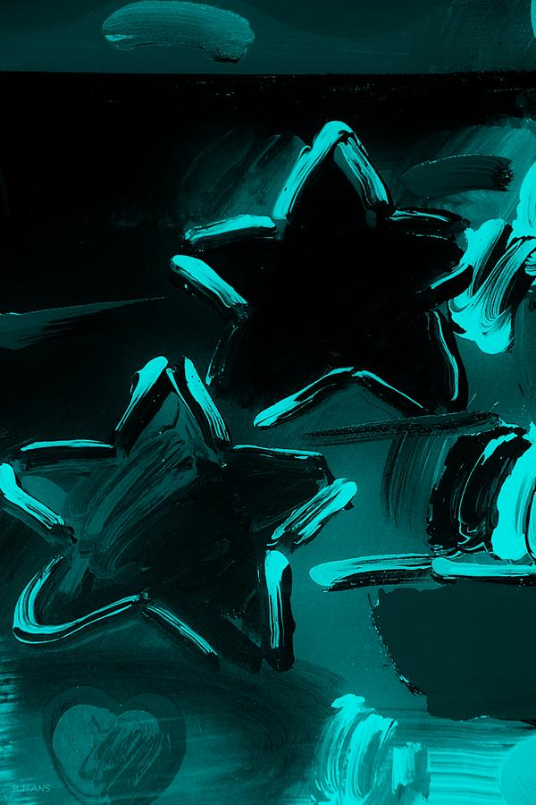 Modern Photograph - Max Two Stars In Turquois by Rob Hans