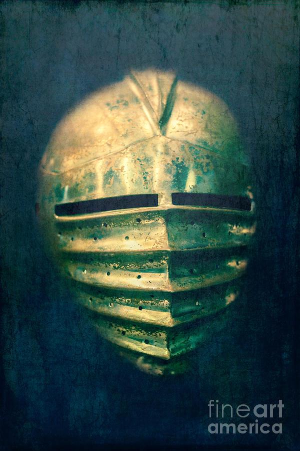 Castle Photograph - Maximilian Knights Armour Helmet by Edward Fielding