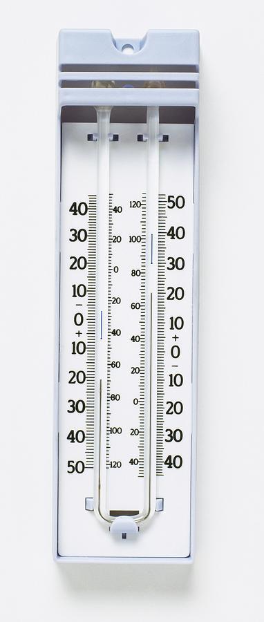 Colour Image Photograph - Maximum-minimum Thermometer by Dorling Kindersley/uig