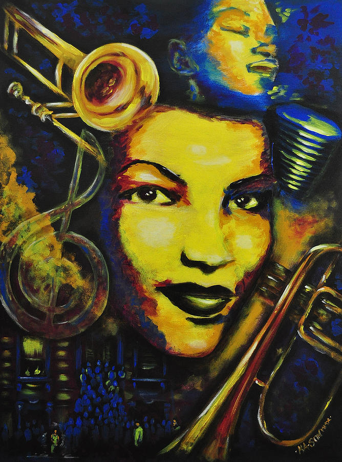 Jazz Painting - Maxine Sullivan by Ka-Son Reeves