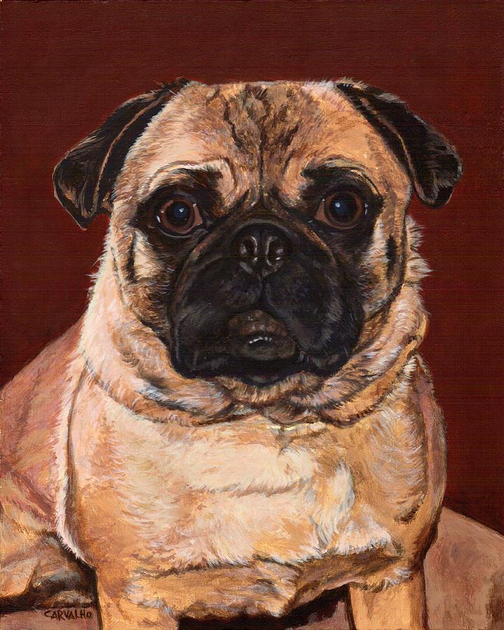 Dog Painting - Maxx by Daniel Carvalho