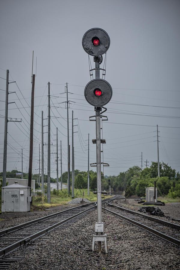 May 14 2014 - Csx Searchlight Railroad Signal At Amqui Tn by Jim Pearson