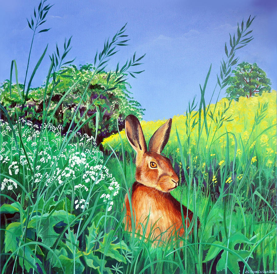 May Painting - May hare by Jane Tomlinson