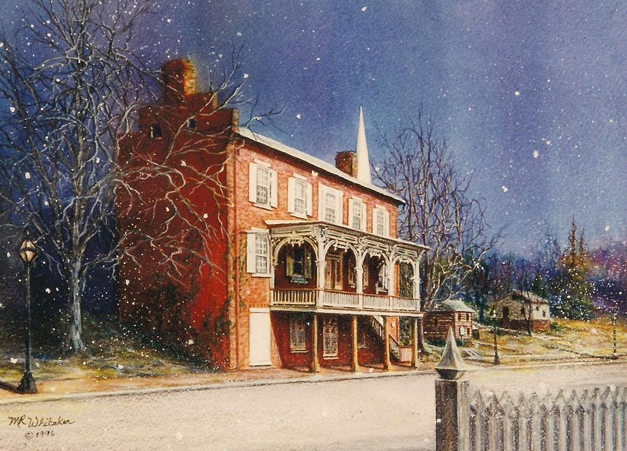 Watercolor Painting Painting - May House In Winter by Melodye Whitaker