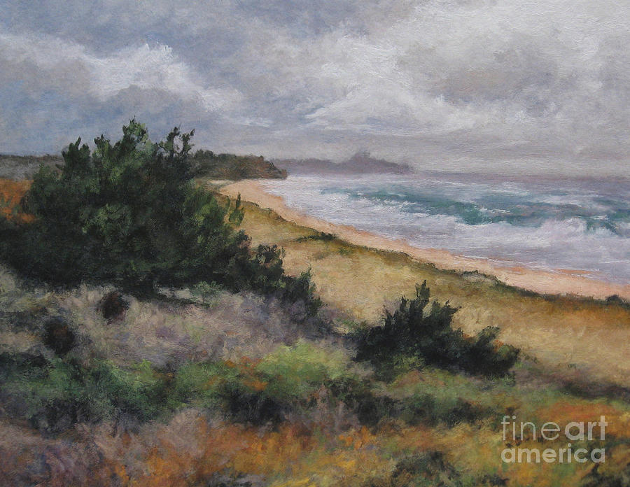 Spring Storm Painting - May Storm - Montauk by Gregory Arnett
