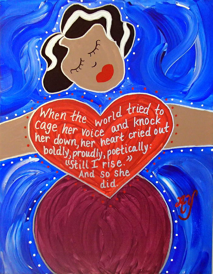 Icon Painting - Maya Angelou by Angela Yarber