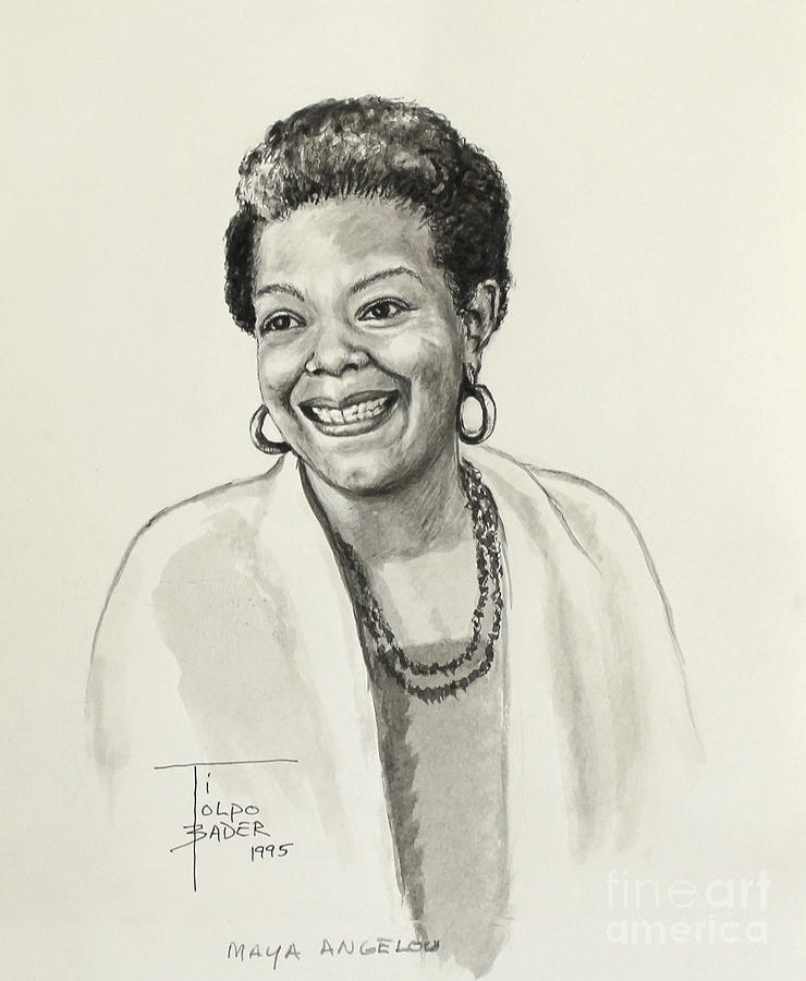 Maya Angelou by Art By - Ti   Tolpo Bader