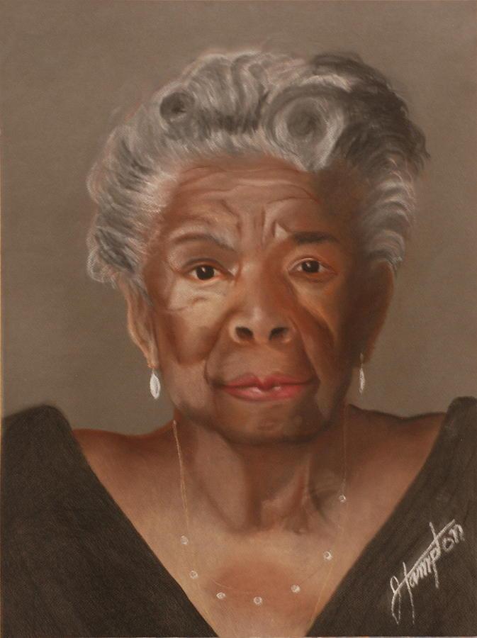 Poet Drawing - Maya Angelou by Jack Hampton