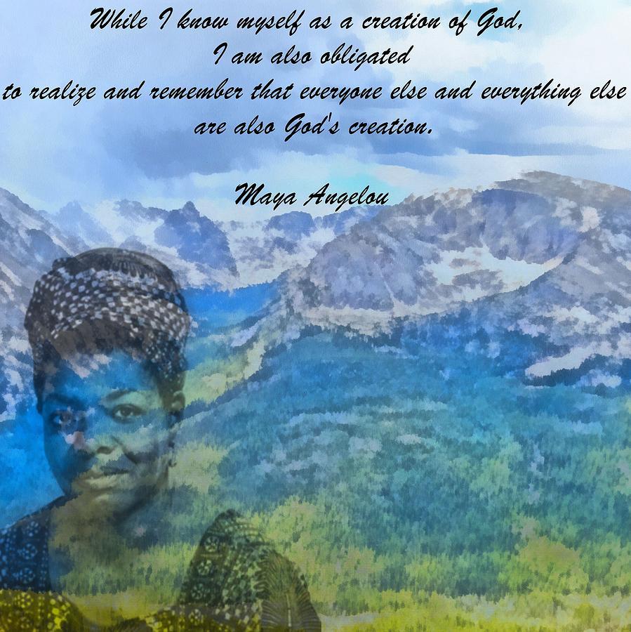 Maya Angelou Painting - Maya Angelou Tribute by Dan Sproul