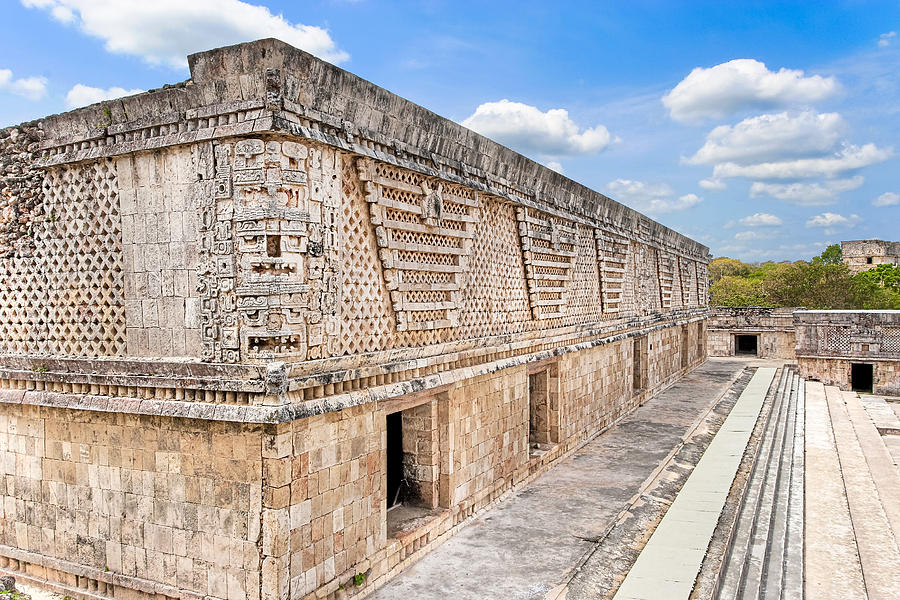Mayan Architecture At Uxmal Photograph By Mark E Tisdale