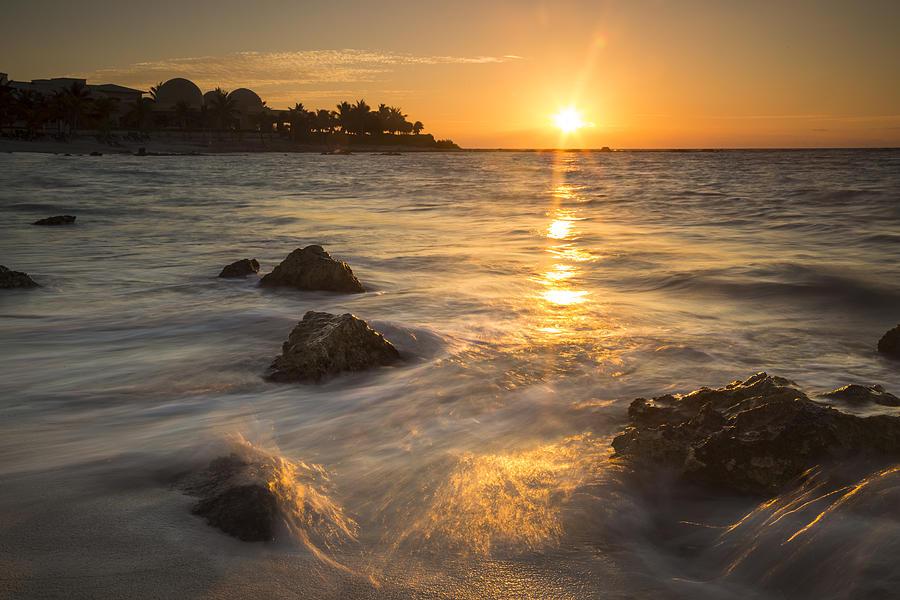 3scape Photos Photograph - Mayan Coastal Sunrise by Adam Romanowicz