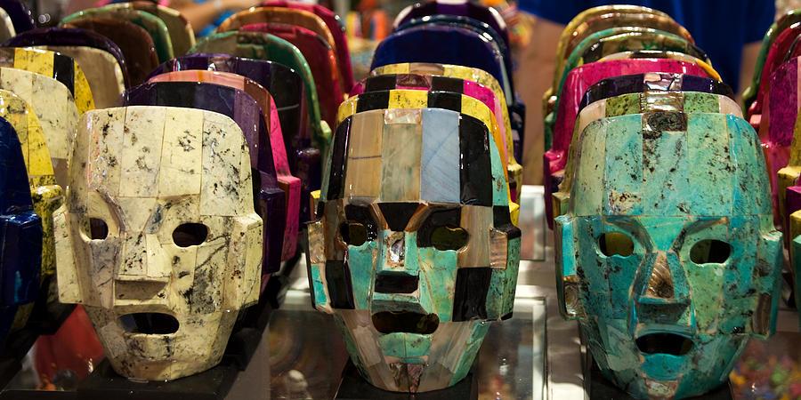 Mayan Masks by Sandy Scharmer