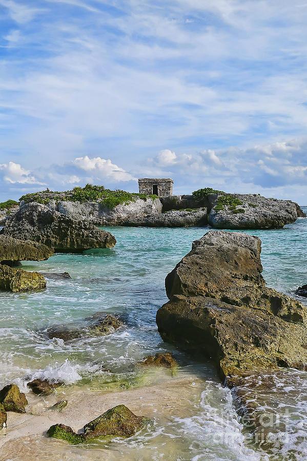 Beach Photograph - Mayan Ruin by Teresa Zieba