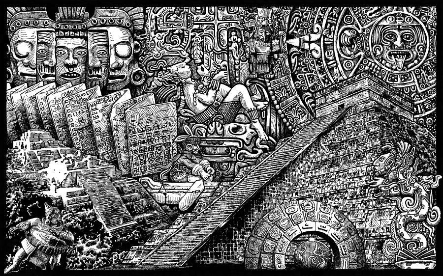 Maya Drawing - Mayannual by Matthew Ridgway