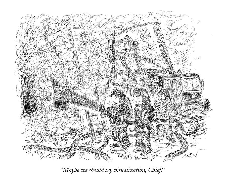 Maybe We Should Try Visualization Drawing by Edward Koren
