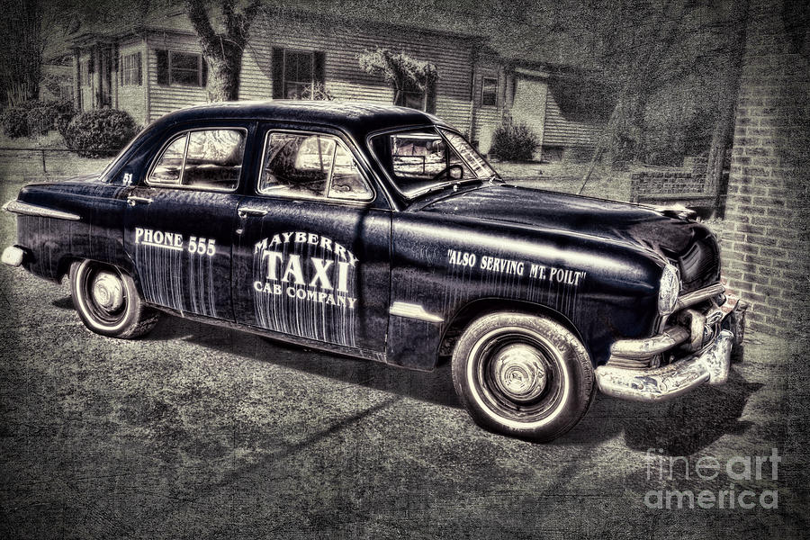 Andy Griffith Photograph - Mayberry Taxi by David Arment